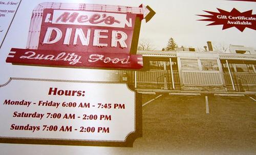Mel's DIner Hours