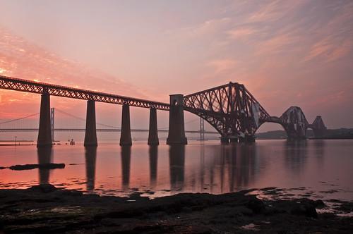 Forth Bridge Misty Sunset - Explored