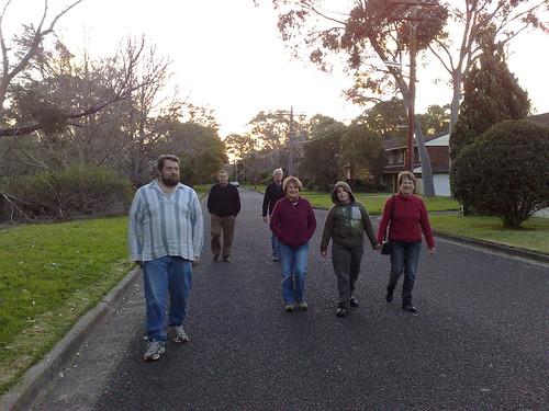 Walking along Duneba Drive