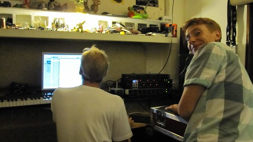 Chris and Paul Shadow Orchestra recording