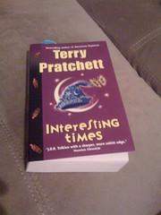8:36pm Reading Terry Pratchett's Interesting T...