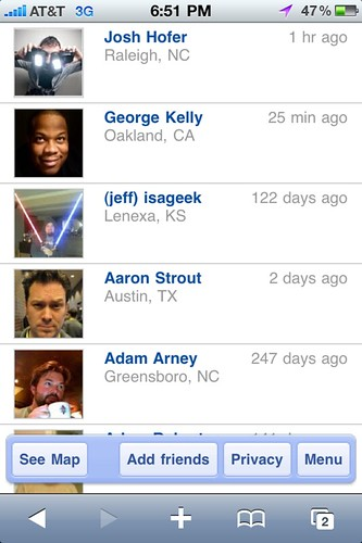 Google Latitude Friends