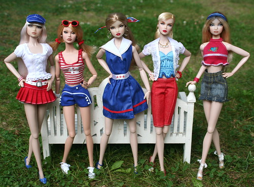 The Girls in Red, White & Blue