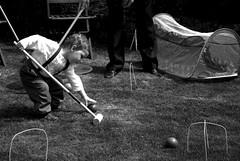 Gene playing croquet