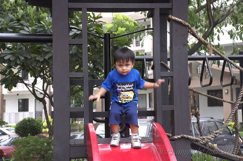 Euan at the Mayfield Park Residences playground