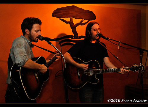 Jonathan Andrew and Brett Harris at the Twisted Tree Cafe. Asbury Park, NJ