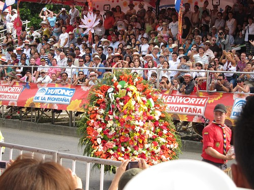 The silletas for the parade are handmade in the nearby town of Santa Elena.