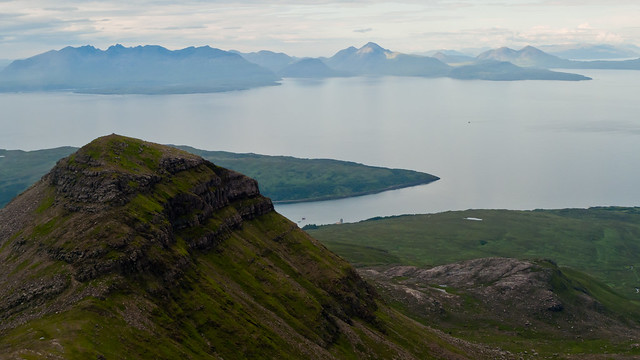 Hallival in front of the Isle of Skye, from Askival