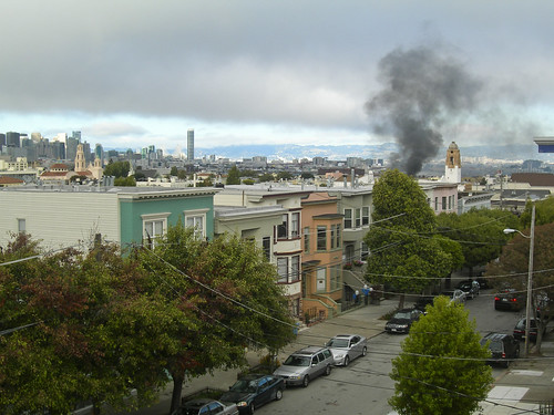oh no, a house fire near 17th and Mission Streets, on Rondel!