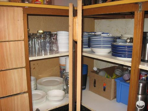 Corner cupboard (after)