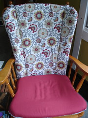 New covering for ugly chair!