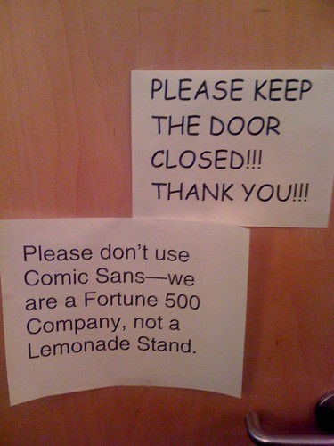 Please don't use Comic Sans.