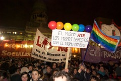 Crowd in support of gay marriage