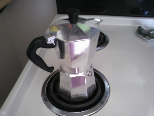 My favorite way to make coffee is in the Moka pot.