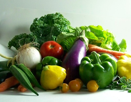 still life summer vegetables
