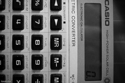 Casio electronic calculator circa 1983 P1050389
