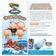 Melaka Waterpark Parent's Day