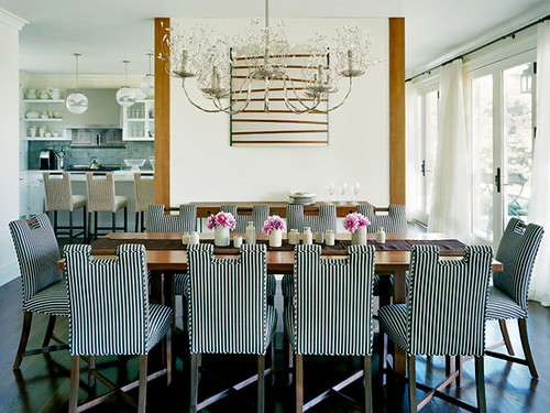 Ellen Hamilton striped dining chairs