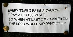 Message on notice board at St Peter & St Paul,...