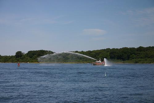 Fireboat plume