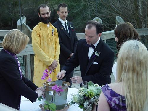 Wedding Weekend - American Chestnut Unity Ceremony - Ryan Plants (by Liza Franco)