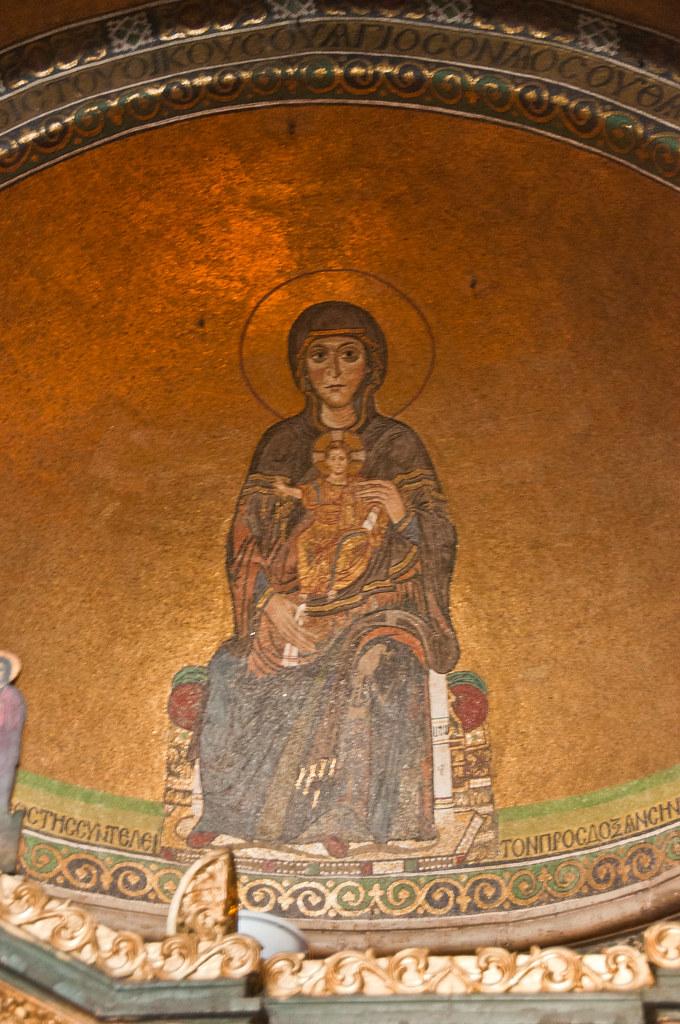 Virgin and Child. Aghias Sofia, Thessaloniki