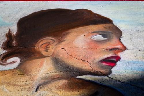 Italian Street Painting in Palo Alto - Photo by Scott Loftesness