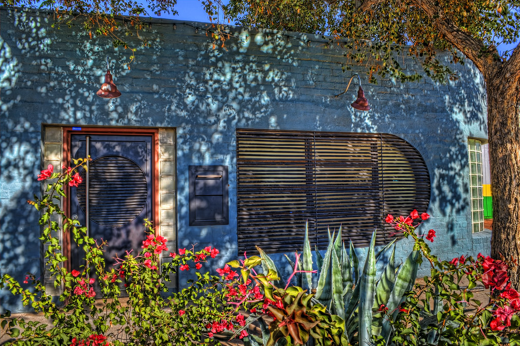 Blue Art Deco House