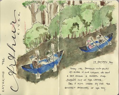 Arthur river kayaking