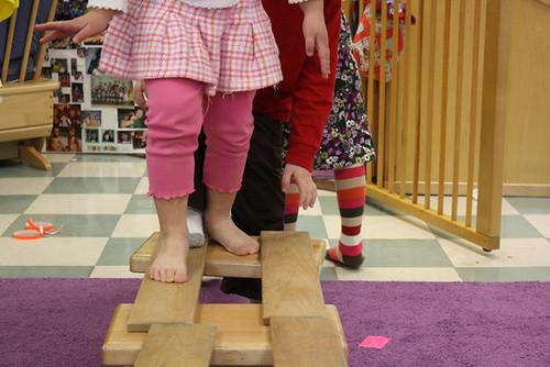 balancing toes