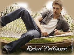 Wallpaper:  Robert Pattinson's on a hammock... [Dark] [1024 x 768]
