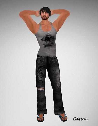 . WoE . Kole Dragon Jeans (Grey) . WoE . Skull Tank (Grey)