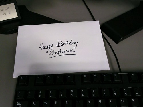 "Happy Birthday ""Stephanie"""