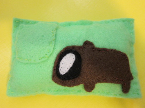 Sym's Wombat Pillow for Clay