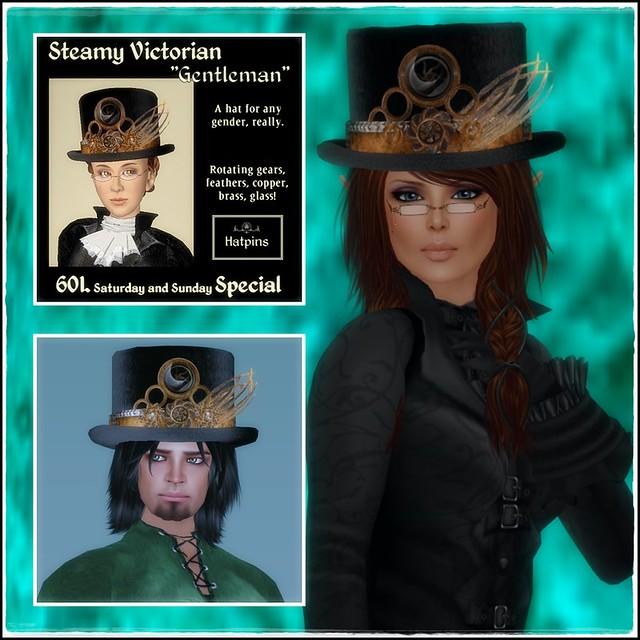 Hatpins - Steamy Victorian - Sixty Linden Weekend