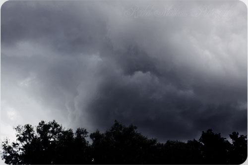 the storm blowing in