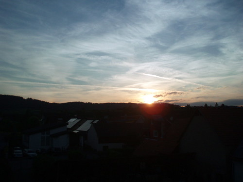 Sonnenuntergang in Eichstetten am Kaiserstuhl