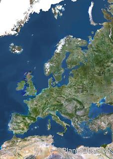 Europe - Satellite image - PlanetObserver
