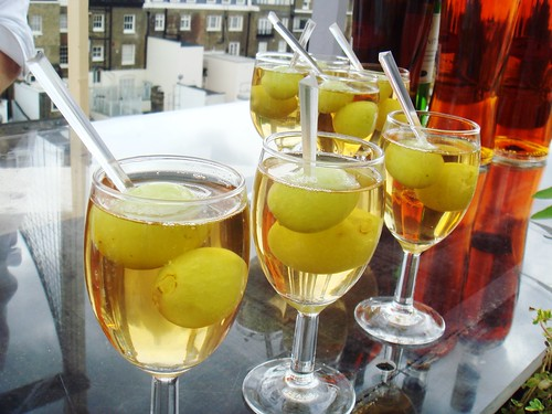 Complete History of Food by Bompas and Parr - Flat Champagne Cocktails and Fizzy Grapes