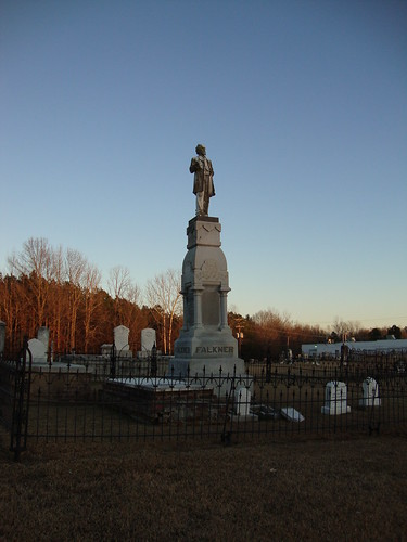 Colonel William C. Falkner Monument, Ripley Cemetery Mississippi