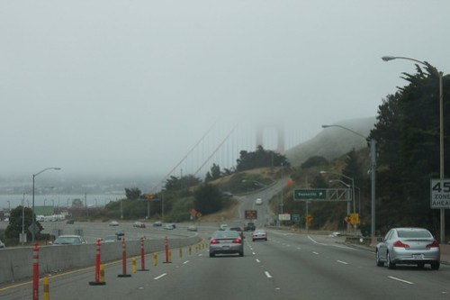 Approaching Golden Gate Bridge