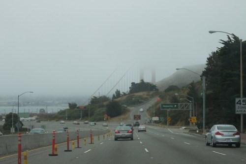 Approaching Golden Gate Bridge