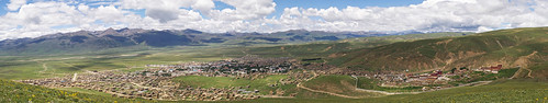 Panorama of Litang, Tibet