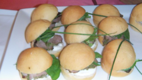 Herb & Sea Salt Encrusted Beef Cocktail Sandwiches