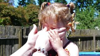 Sunscreen on Julie