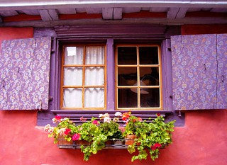 A window in Alsace, France