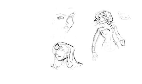 Wonder Woman Sketch in Progress: