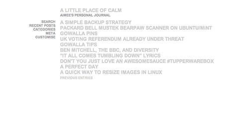 Minimalistic blog theme