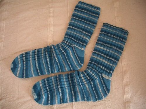 Trev's Stripy Gusset Socks - FO
