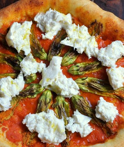 Squash Blossom & Burrata Pizza